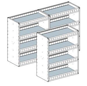 aluminum van shelving for box trucks cargo trailers etc. Black Bedroom Furniture Sets. Home Design Ideas