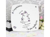 Personalised wedding cake plate