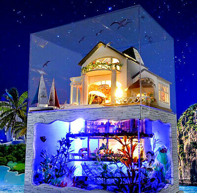 DIY Handcraft Miniature Project Dolls House The Ocean World Guest House Hawaii for sale  Shipping to United States