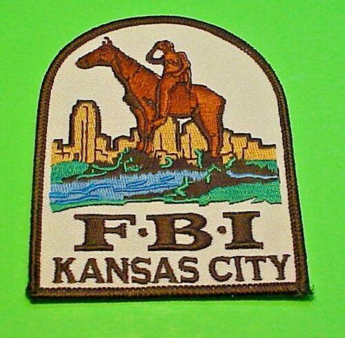 "KANSAS CITY KANSAS  F.B.I.  4""  POLICE PATCH  FREE SHIPPING!!!"