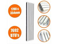 1780 X 354mm White Double Oval Tube Vertical Radiator, New,Boxed..!