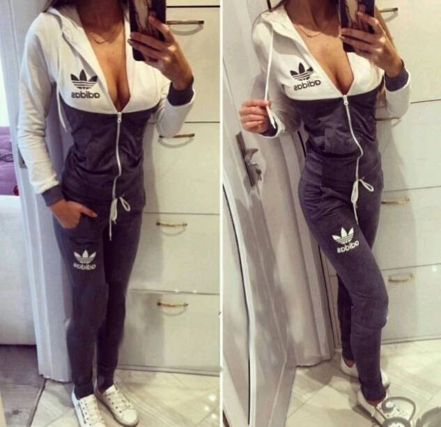 2381fa01a17 Adidas Sets Tracksuit Women s 2 colours sports