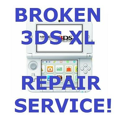 AS IS Broken Nintendo 3DS XL System Fix/Repair Service!