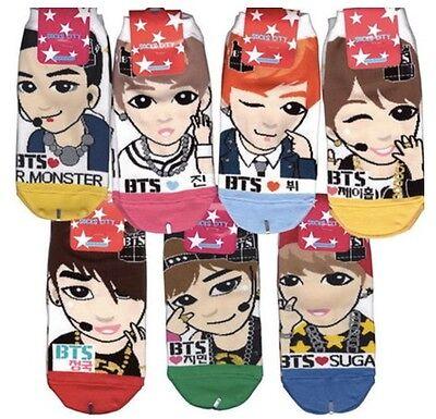 BTS Bangtan Boys Low Ankle Socks All Member 7pairs for woman Last Order