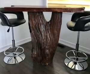 Table-bar Artemano en bois exotique
