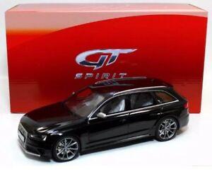 GT Spirit Audi RS4 B8 Avant 4 Door Wagon Black Resin Model Car 1/18