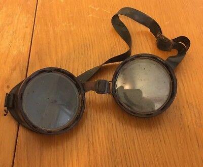 Vintage Welding Motorcycle Goggles Round Steampunk