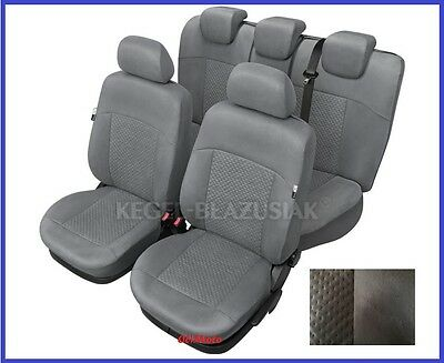 Grey Alicante Tailored Full Set Seat Covers For SEAT TOLEDO Mk4 2012 -onward