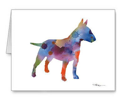 BULL TERRIER Note Cards With Envelopes