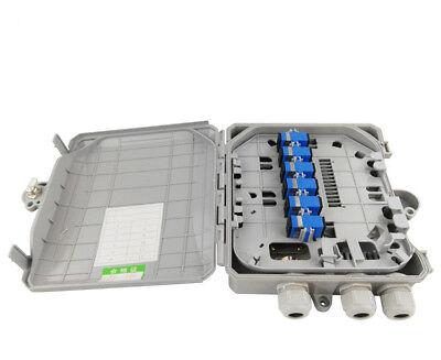 12 core optical fiber splitter box fiber optic terminal box indoor outdoor