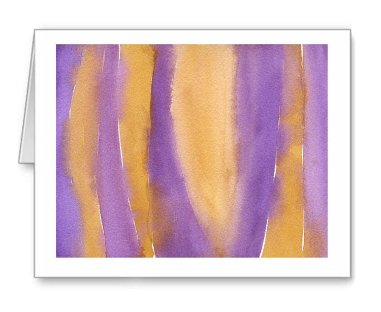 ABSTRACT PURPLE AND YELLOW Note Cards With Envelopes