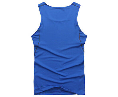Men Compression Base Layer Tank Tops Sleeveless Sports Gym Fitness Vest T-Shirt Activewear