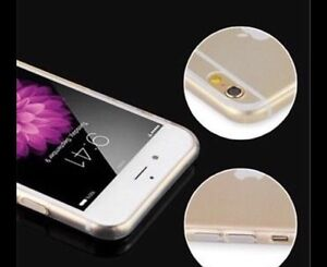 Ultra thin clear soft silicon case for iphone 6/6s London Ontario image 1