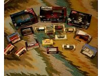 Die cast cars in boxes from 1970s upwards