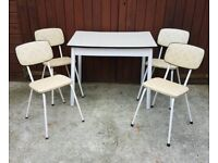 Table and chairs 1950s retro