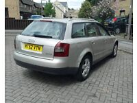 AUDI A4 1.9 TDI 2002 ADVANT MOT MAY 2019 F/S/H GENUINE LOW MILES SPARES OR REPAIR CHEAP EASY FIX