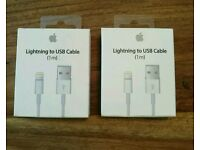 Genuine Apple Lightening USB Cables, brand new