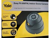 Yale SCH-70D20A 650 TVL Day & Night Indoor Dome Camera - BLACK or WHITE