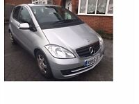 2010 Mercedes A180 CDi 5 door hatch, manual, silver, CD Player, FSH, 2 OWNERS, £30 Road tax