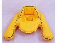 Boots baby swim ring. Float. Inflatable. Yellow