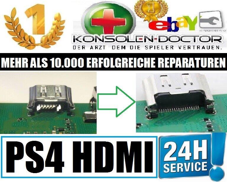 PS4 Playstation 4 HDMI V3 WLOD Port Stecker Buchse Anschluss defekt Reparatur