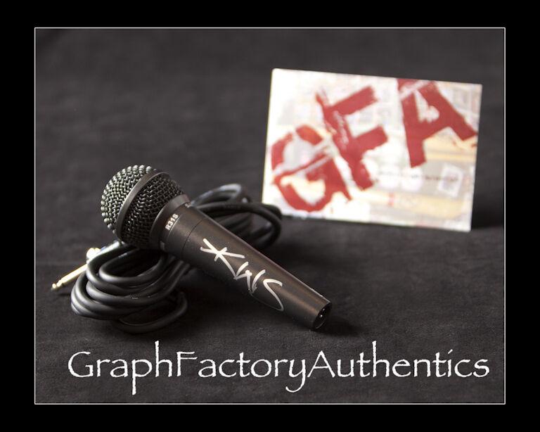 Kenny Wayne Shepherd *BLUE ON BLACK* Signed R31S Microphone K2 COA GFA