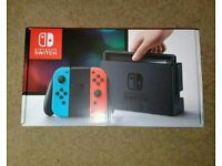 Nintendo switch console NEW Red /neon