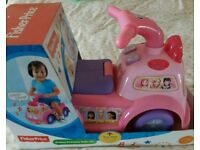 SOLD SUBJECT TO COLLECTION Fisher Price Pink Musical Ride On New