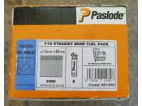 Paslode Impulse Paslode F16 x 63mm Straight Brads 2000 Nails For IM65A with fuel cells