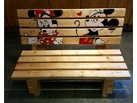 Children's Handpainted Bench