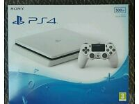 White ps4 slim 500gb brand new with receipt.