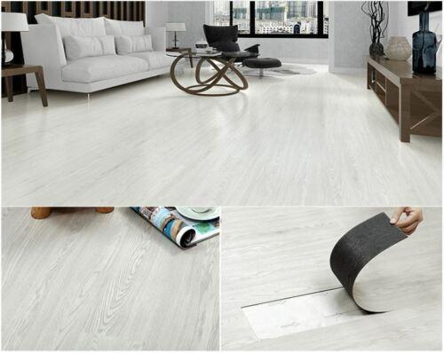 EasyFloor© Self-adhesive Floor Planks Tiles Matt Wooden Oak White Fast Delivery