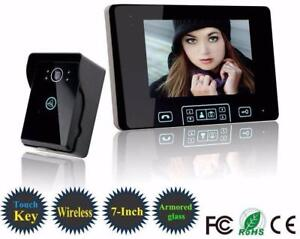 NEW 2.4GHZ WIRELESS DOORBELL 7 IN COLOR TOUCH VIDEO PHONE 2WAYDB