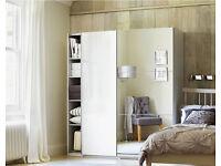 Argos Hygena white gloss / mirror wardrobe