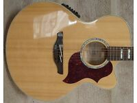 Takamine EG523SC Jumbo Acoustic Electric Guitar & Gator Case - as new