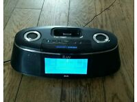Alarm clock with Dab radio/iPod dock