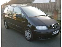 2009 (09) SEAT ALHAMBRA 2.0 TDI 140BHP LONG MOT TILL OCT/17 NOT VW SHARON/GALAXY