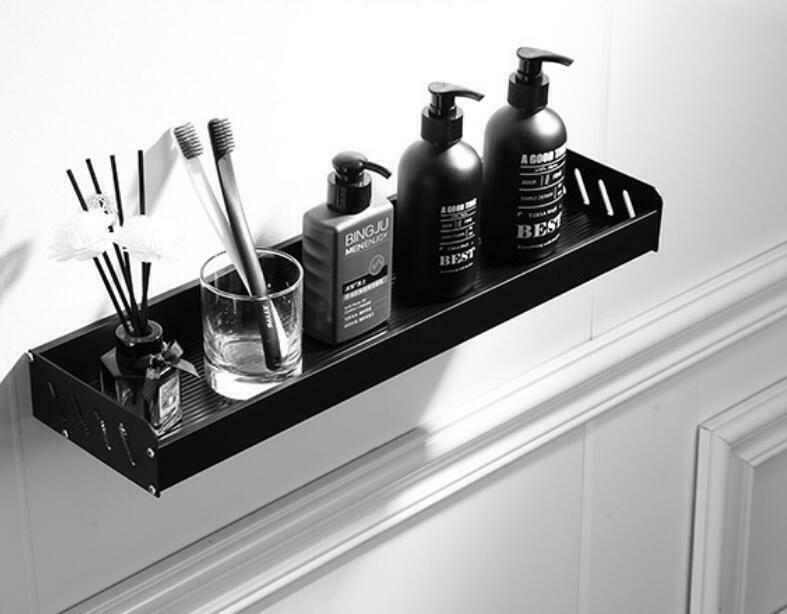 Black Square Space Aluminum Wall Mounted Shower Caddy Shelf For Bathroom Kitchen Ebay