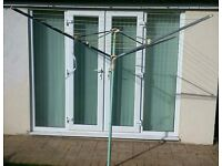 Rotary Washing Line. 4 Arms. 50m. New.