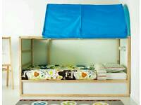 Ikea kura bed with mattress and tent.
