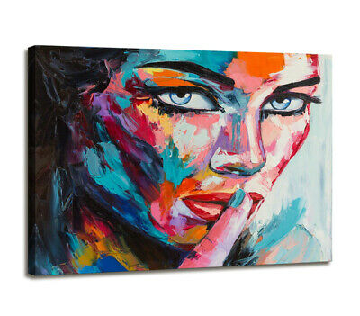 Cuadros en Lienzo ´ 80 x 60 cm Nr. 4006 cara abstract