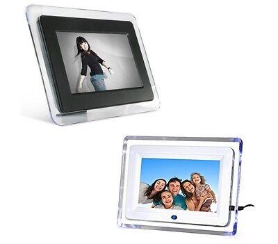 CORNICE DIGITALE 7 USB FOTO VIDEO MONITOR MP3 JPG SD AVI TELECOMANDO BIANCA NERA
