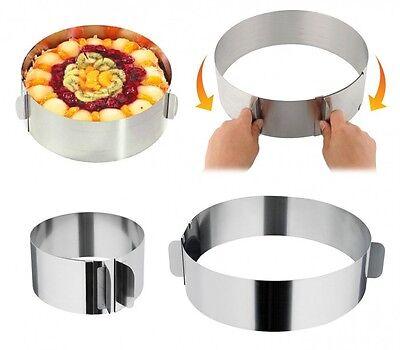 Anello per torta DA 16 A 30 cm regolabile TORTIERA STAMPO INOX forno torte