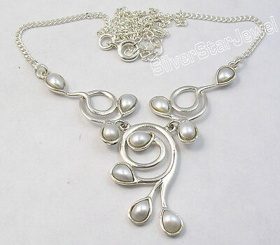 925 Pure Silver DROP FRESH WATER PEARL GIRLS' WELL MADE Necklace - Girls Freshwater Pearl Drop Necklace