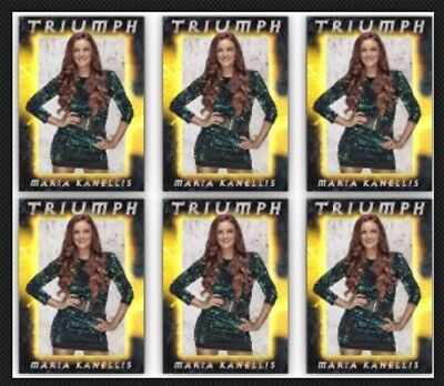 6x MARIA KANELLIS-TRIUMPH-WAVE 2-TOPPS SLAM WWE DIGITAL