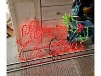 Large Merry Christmas static light up sign