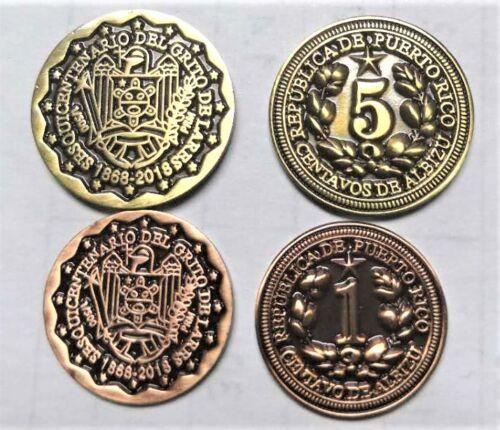 1 & 5 CENTAVOS ALBIZU 150 GRITO DE LARES 1868 2018 PUERTO RICO Coin Mint Set lot