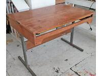 Vintage draft table drawing board