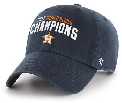 0dd977564c5 Houston Astros 47 Brand Strapback World Series Champions Dad Cap Hat Clean  Up