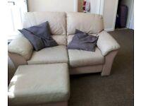 Sofa & ottoman footstool